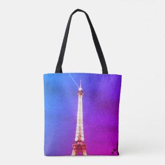 Tote de la torre Eiffel Bolso De Tela