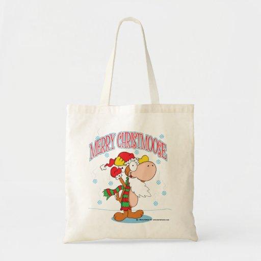 Tote de los alces del navidad del dibujo animado bolsas