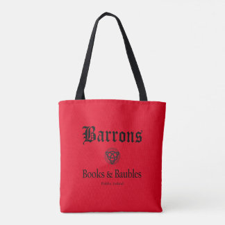 Tote de los libros y de las chucherías de Barrons Bolsa De Tela