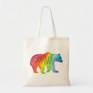 Tote de mamá Bear Watercolor Family Pride Bolso De Tela