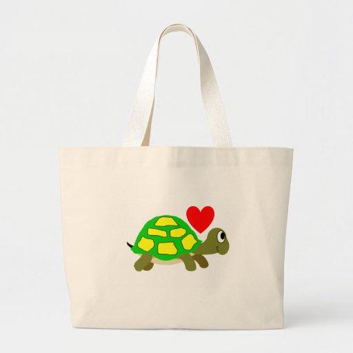 Tote del amor de la tortuga bolsa de mano