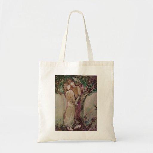 "Tote del ""amor joven"" bolsas lienzo"
