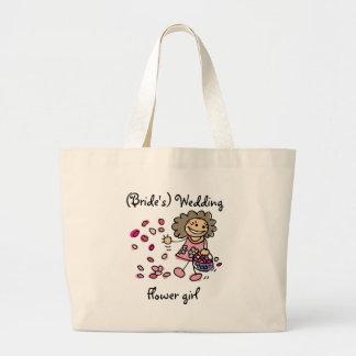Tote del boda del florista bolsa lienzo