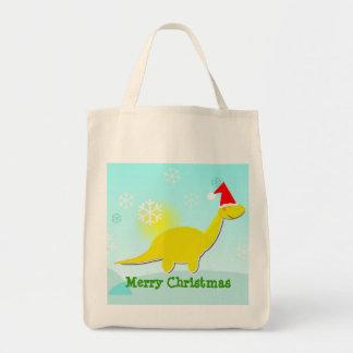 Tote del bolso de Dino del amarillo del dinosaurio Bolsa Tela Para La Compra