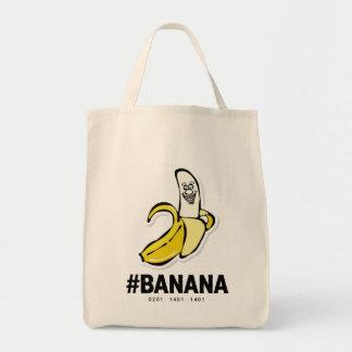 Tote del *Grocery del plátano Bolsa Tela Para La Compra