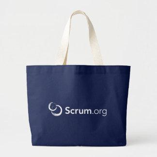 tote del jumbo de Scrum.org Bolsa De Tela Grande