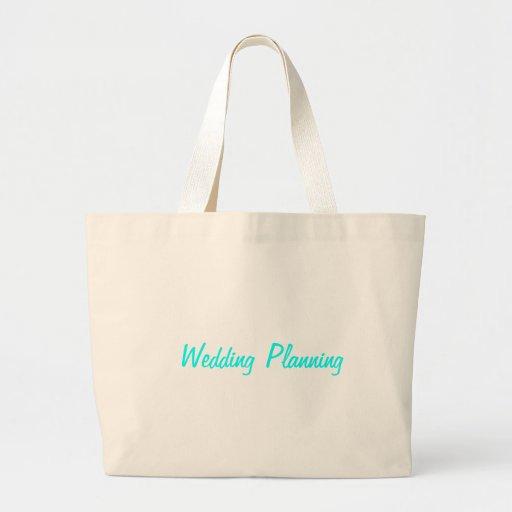 Tote del planeamiento del boda bolsas