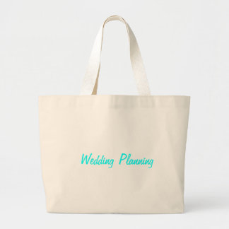 Tote del planeamiento del boda bolsa tela grande