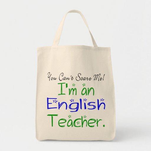 Tote del profesor de inglés bolsa lienzo