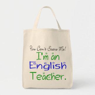 Tote del profesor de inglés bolsa tela para la compra
