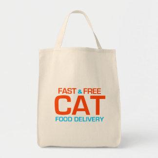 Tote del ultramarinos de la entrega de la comida p bolsas de mano