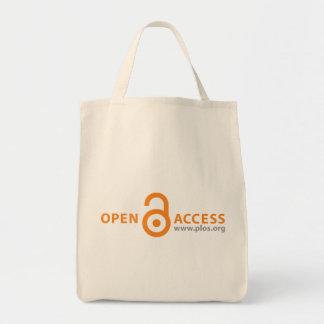 Tote del ultramarinos del acceso abierto de PLoS Bolsa