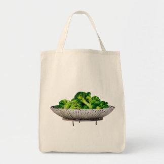 Tote del ultramarinos del bróculi bolsa tela para la compra