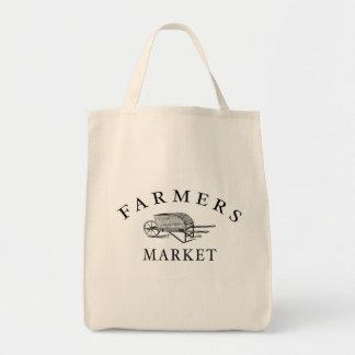 Tote del ultramarinos del mercado de los granjeros bolsa tela para la compra