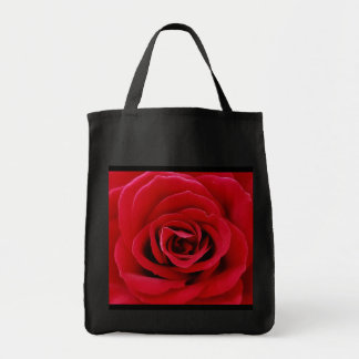 Tote del ultramarinos del rosa rojo bolsa tela para la compra