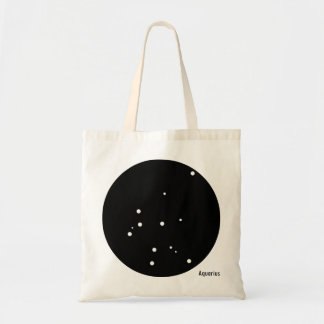 Tote del zodiaco (acuario) bolso de tela