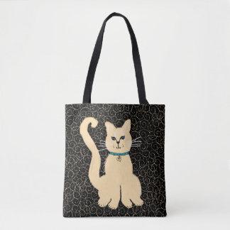 Tote ey bonito del diseñador del gatito de Julia Bolsa De Tela