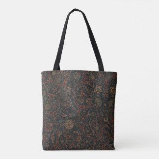 Tote floral de la alfombra de Kirman Bolso De Tela