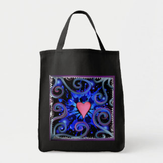 Tote hermoso del ultramarinos del arte bolsa tela para la compra