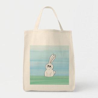 Tote lindo del ultramarinos del conejito bolsa tela para la compra