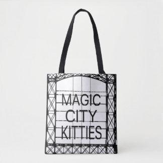Tote mágico de los gatitos de la ciudad bolso de tela