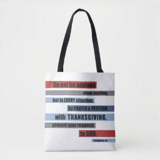 Tote moderno del verso de la biblia bolso de tela