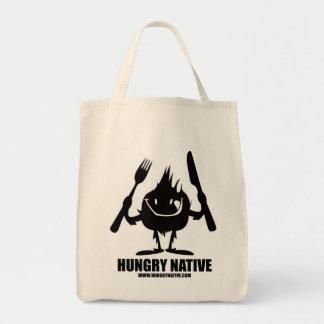 Tote nativo hambriento del ultramarinos bolsa tela para la compra