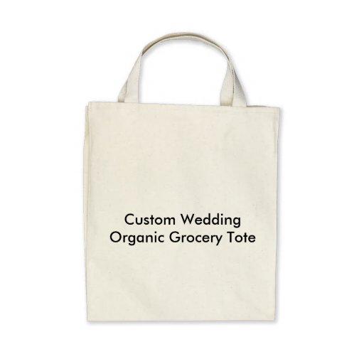 Tote orgánico del ultramarinos del boda de encargo bolsa