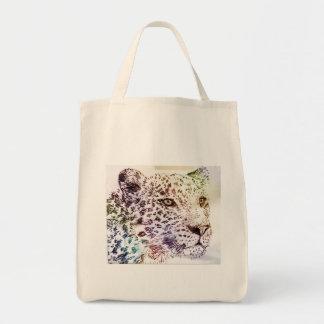Tote orgánico del ultramarinos del guepardo bolsa tela para la compra