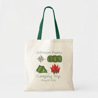 Tote personalizado de la acampada del campo del bolsa tela barata