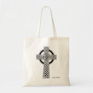 Tote personalizado de la cruz céltica bolso de tela