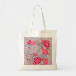 Tote pintado del gráfico de los rosas bolso de tela