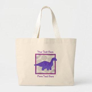 Tote púrpura de Dino Bolsa Tela Grande