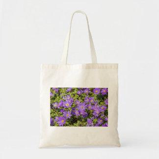 Tote púrpura de la flor bolso de tela