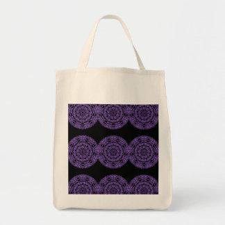 Tote púrpura del ultramarinos de la mandala
