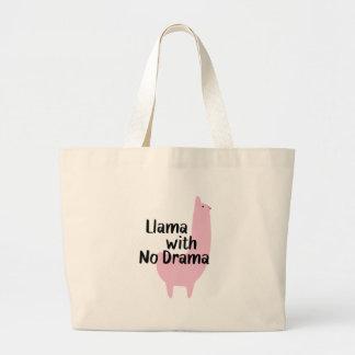 Tote rosado de la llama bolso de tela grande