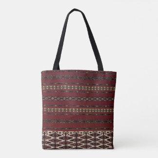 Tote turcomano del modelo de la alfombra bolso de tela