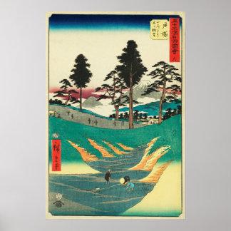 Totsuka, Japón: Impresión de Woodblock del vintage