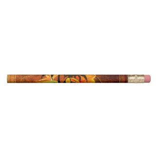 Toucan lindo con las flores lápiz