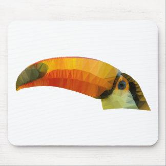 Toucan polivinílico bajo alfombrilla de ratón