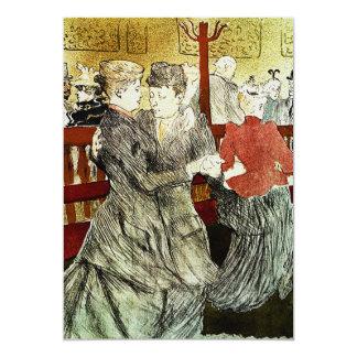 Toulouse-Lautrec - baile en el colorete Invitación 12,7 X 17,8 Cm