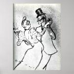 Toulouse-Lautrec: La Goulue y Valentin, vals Póster