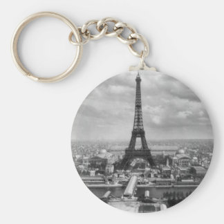 Tour Eiffel Llavero Redondo Tipo Chapa