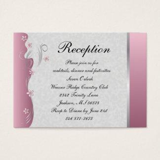 Tourmaline rosado Curvy con clase del diseño el | Tarjeta De Negocios