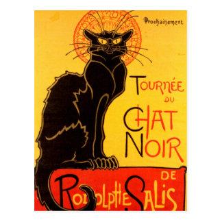 Tournée du Chat Noir - poster del vintage Postal