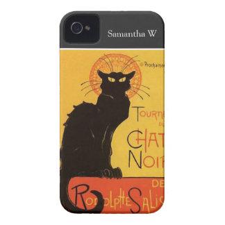 Tournée du Chat Noir, vintage del gato negro de iPhone 4 Carcasas