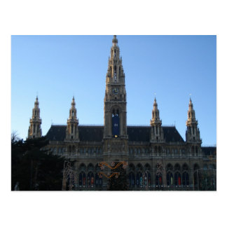 Townhall en postal de Viena, Austria