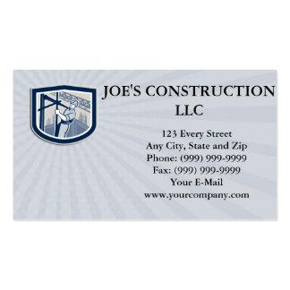 Trabajador de construcción de la tarjeta de visita