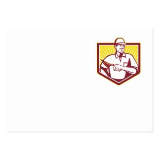 Trabajador de la albañilería del albañil del yeser tarjeta de negocio