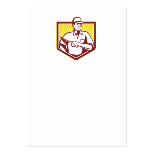 Trabajador de la albañilería del albañil del yeser tarjetas de negocios